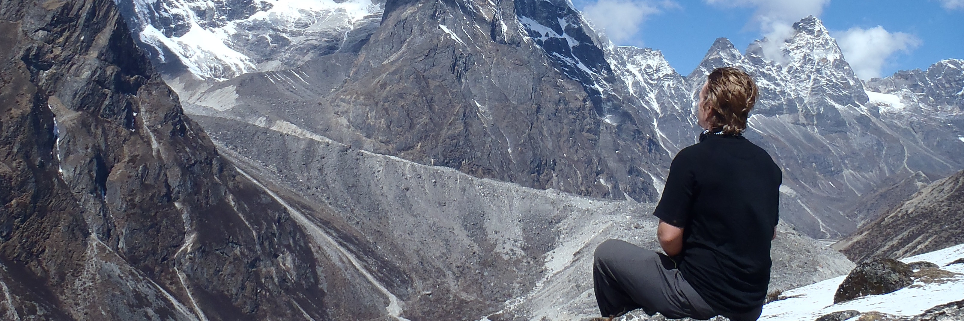 Meditating on Mt Everest